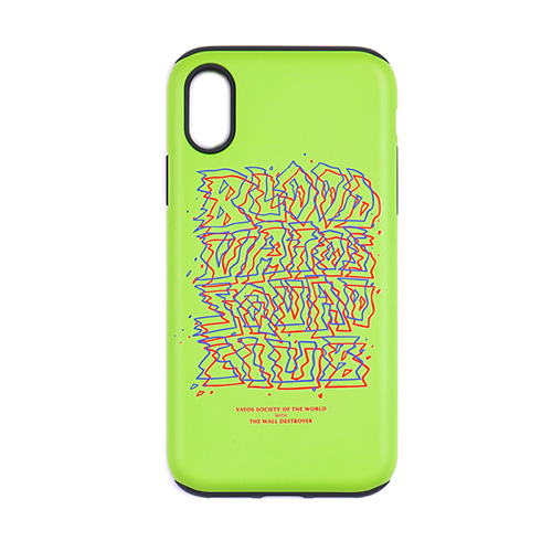 PHONE CASE PRIZM NEON GREEN iPHONE 8 / 8+ / X