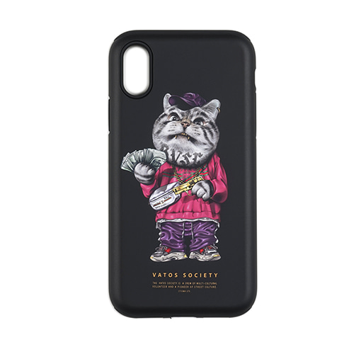 PHONE CASE CATSGANG BLACK iPHONE 8 / 8+ / X