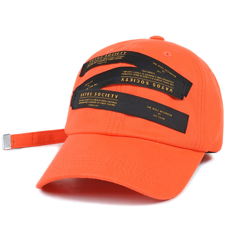 LABEL BASEBALL CAP ORANGESOLD OUT