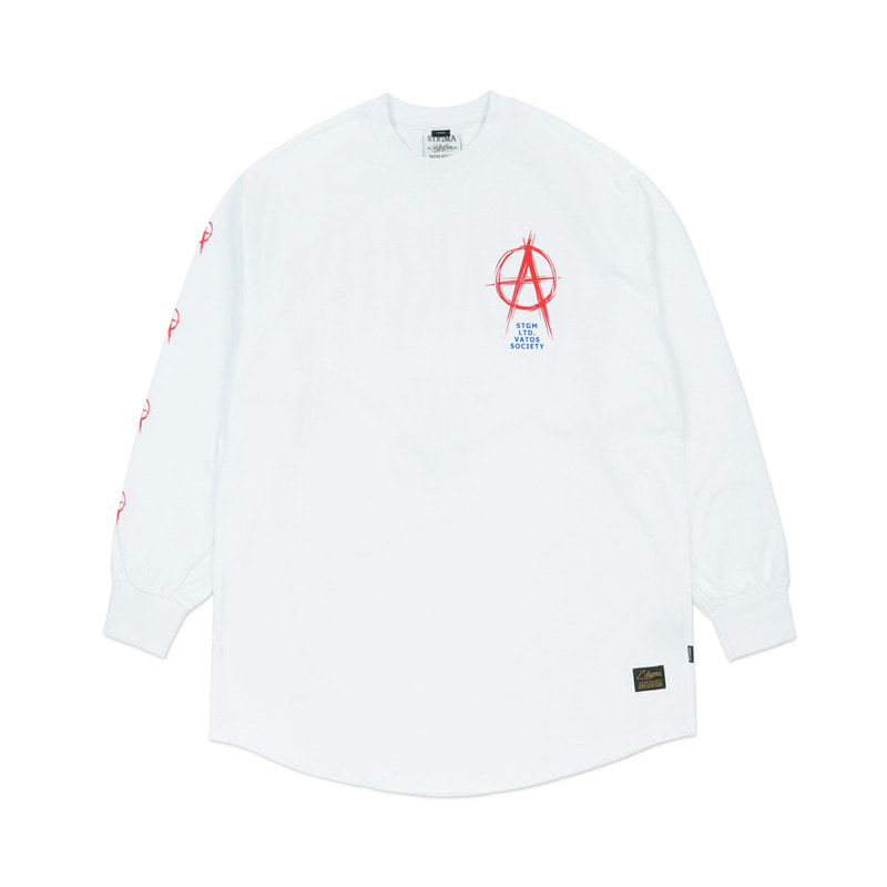 ANARCHY LAYERED LONG SLEEVES T-SHIRTS WHITESOLD OUT