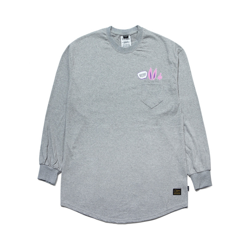 RABBIT GANG LAYERED LONG SLEEVES T-SHIRTS GREY