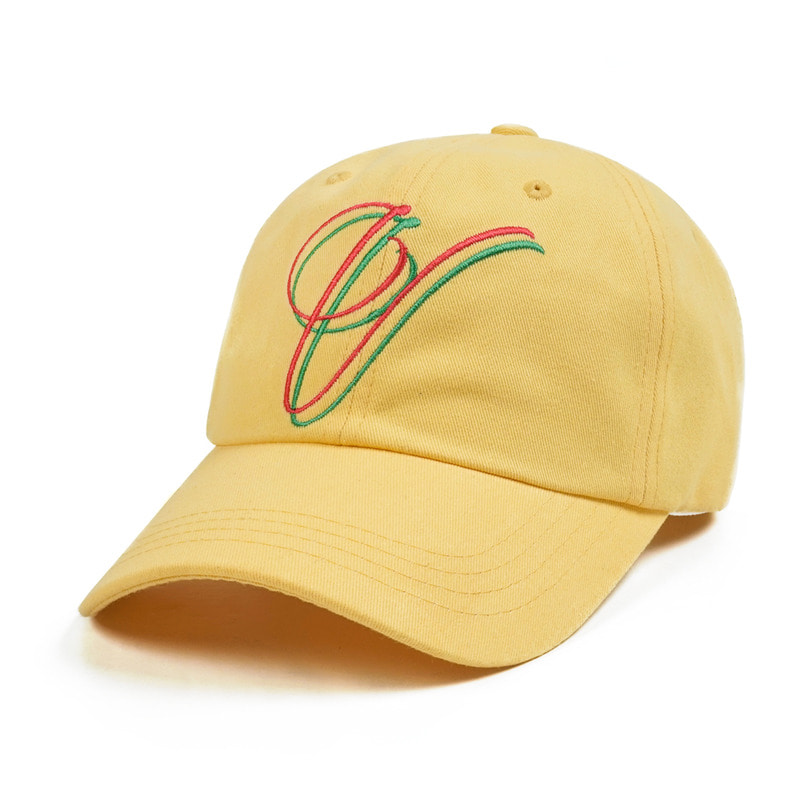 V BASEBALL CAP LIGHT YELLOW