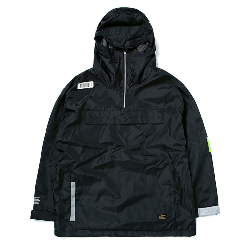 TIGER OVERSIZED ANORAK JACKET BLACK