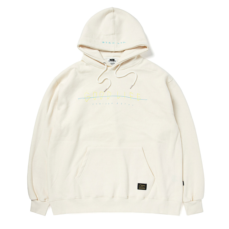 GOOD LIFE OVERSIZED HEAVY SWEAT HOODIE BEIGE