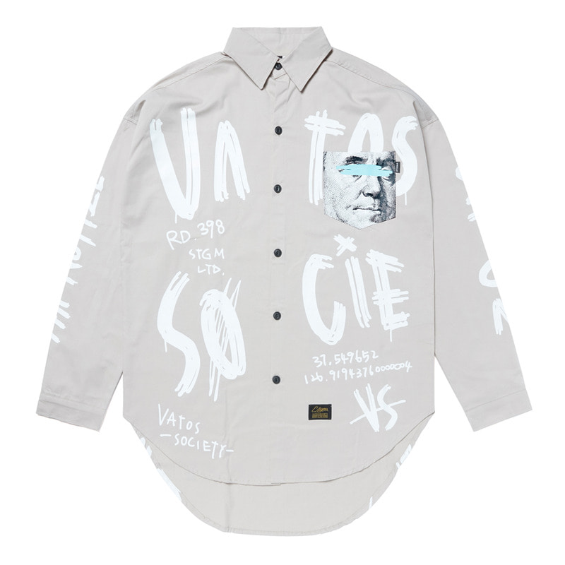 PAINT OVERSIZED SHIRTS BEIGESOLD OUT