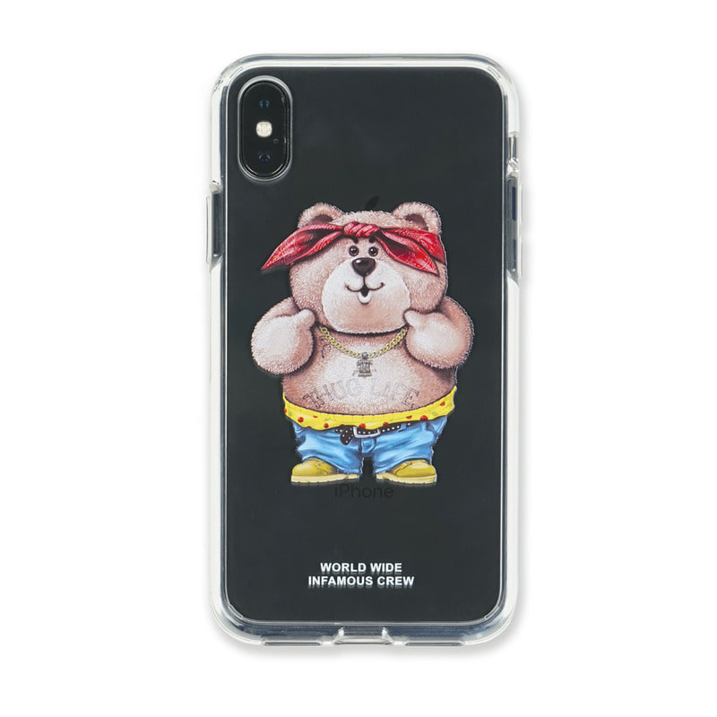 PHONE CASE THUG BEAR CLEAR iPHONE Xs / Xs MAX / Xr