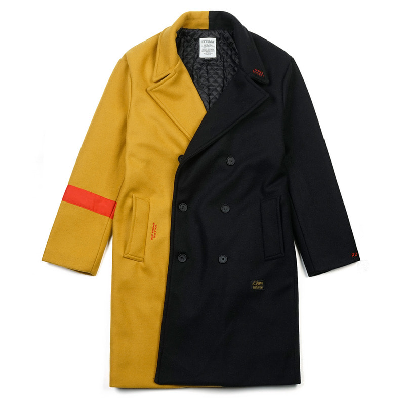 INFAMOUS OVERSIZED WOOL COAT MUSTARD