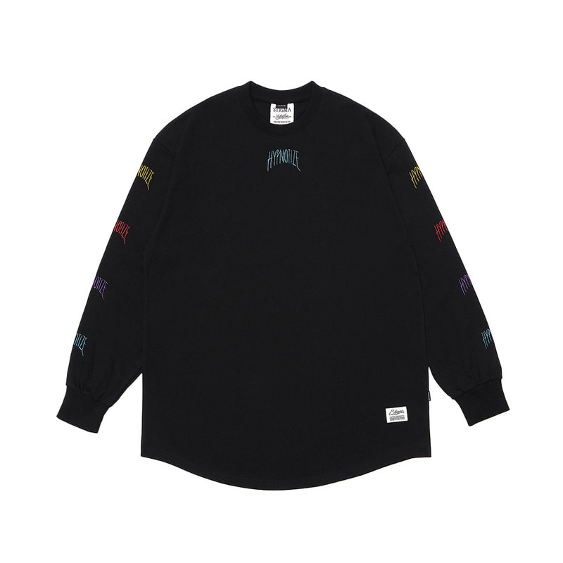 HYPNOTIZE LAYERED LONG SLEEVES T-SHIRTS BLACKSOLD OUT