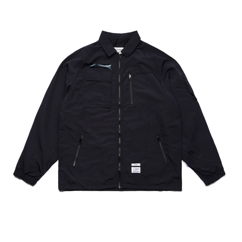 STGM TECH OVERSIZED COACH JACKET BLACK