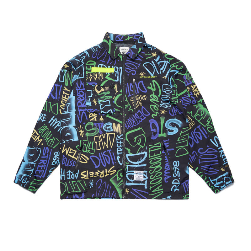 STGM TECH OVERSIZED COACH JACKET PATTERNSOLD OUT