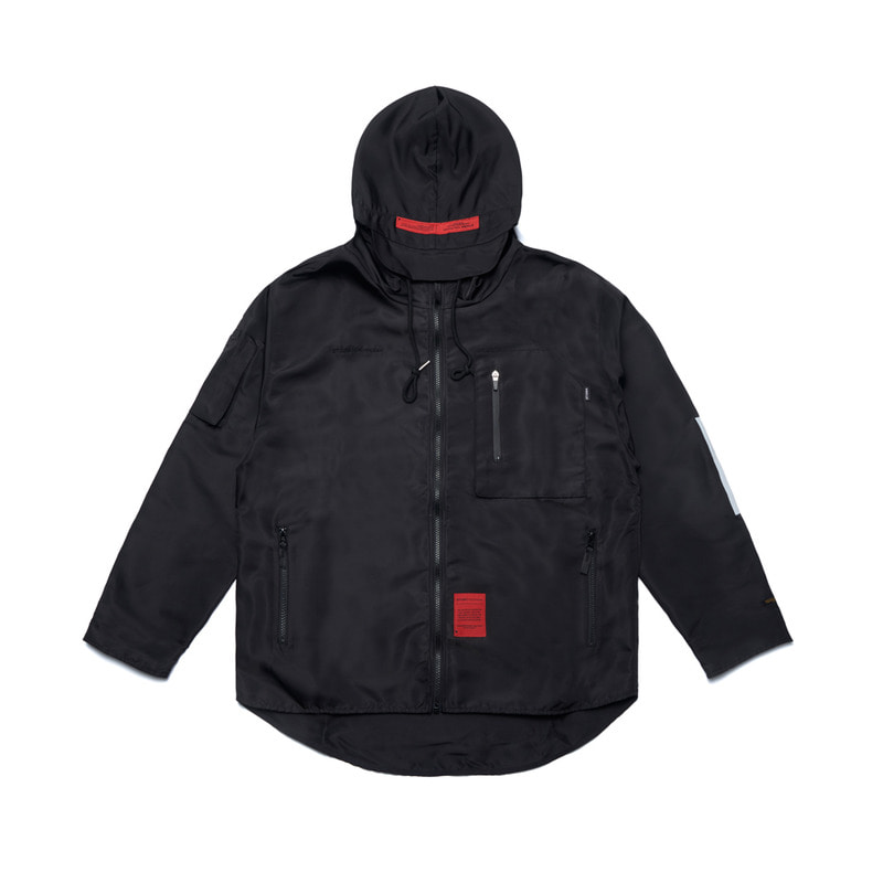STIGMA X CALIPH ASH TECH WINDBREAKER JACKET BLACKSOLD OUT