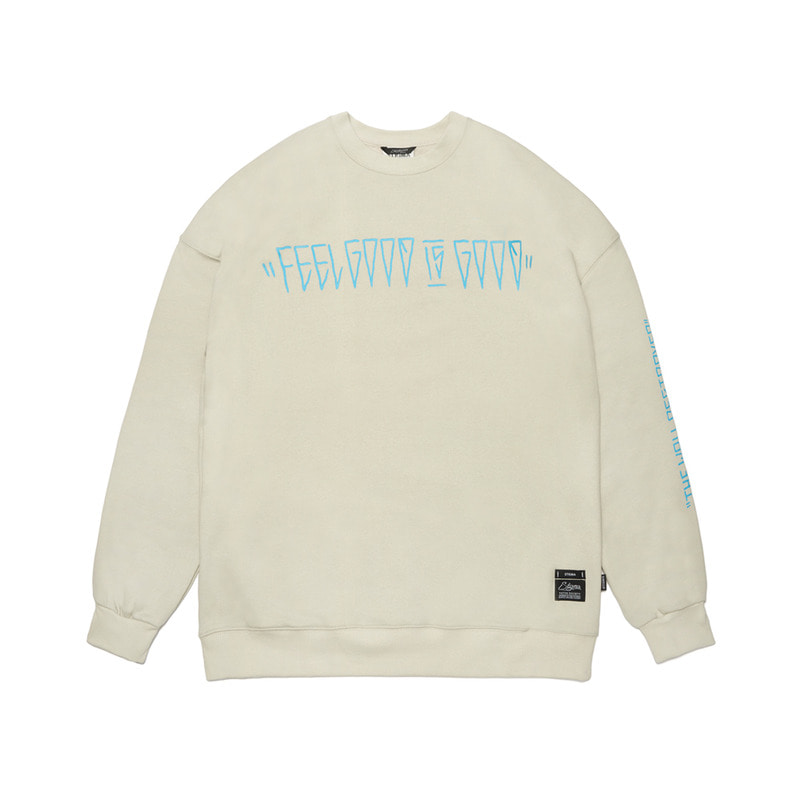RABBIT GANG OVERSIZED HEAVY SWEAT CREWNECK BEIGE