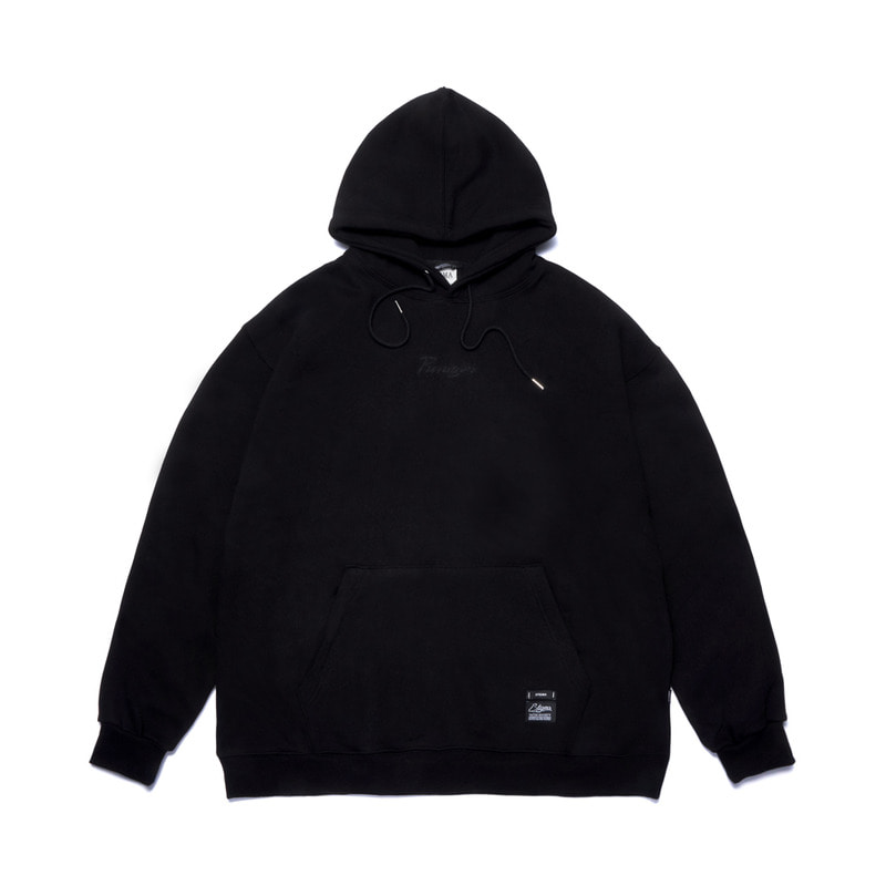 PARAGON OVERSIZED HEAVY SWEAT HOODIE BLACK