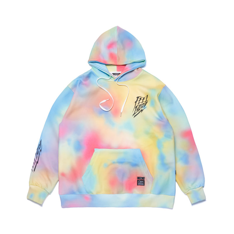 DOT TIE DYE OVERSIZED HEAVY SWEAT HOODIE MULTI
