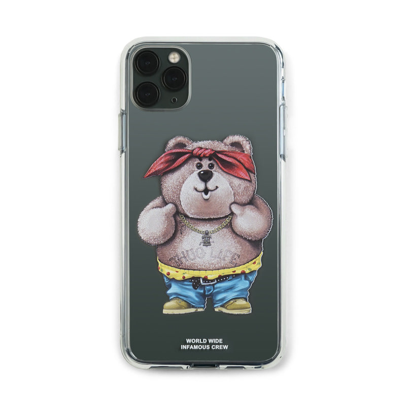 PHONE CASE THUG BEAR CLEAR iPHONE 11 / 11 Pro / 11 Pro Max