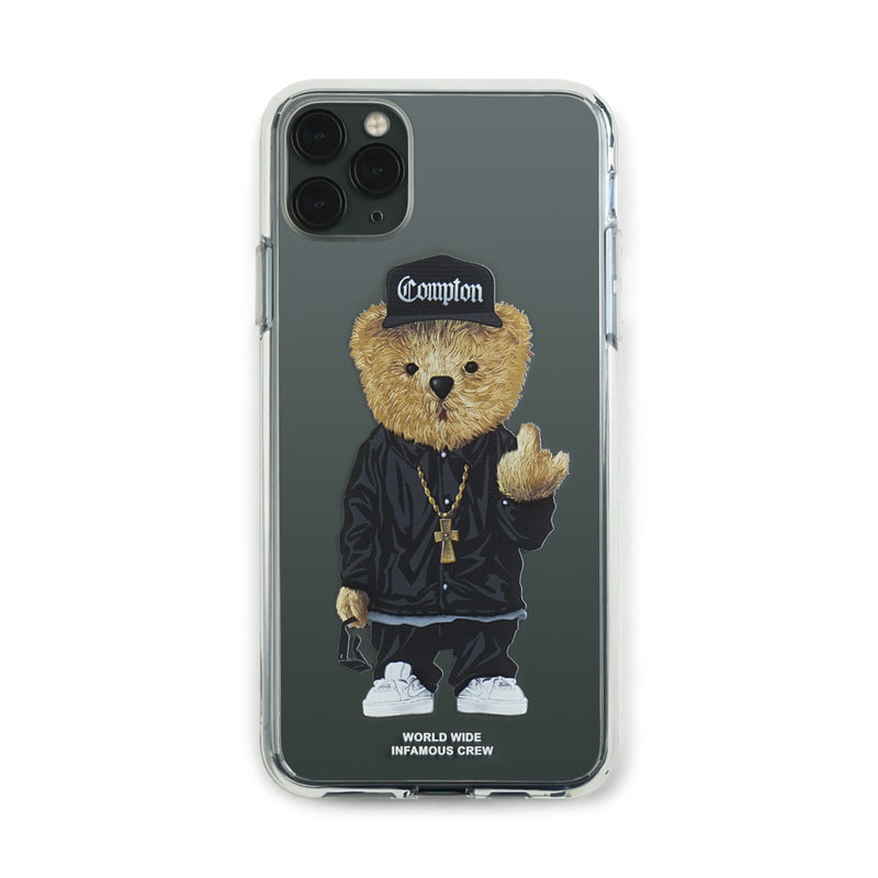 PHONE CASE COMPTON BEAR CLEAR iPHONE 11 / 11 Pro / 11 Pro Max
