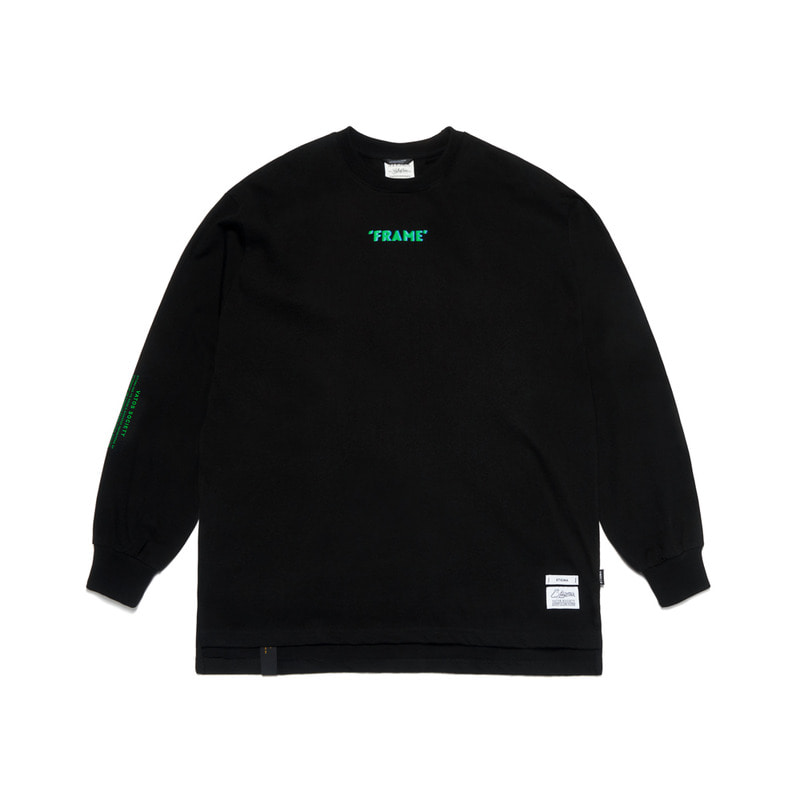 FRAME OVERSIZED LONG SLEEVES T-SHIRTS BLACK