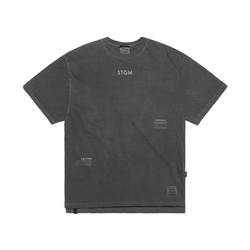 INFAMOUS PIGMENT OVERSIZED T-SHIRTS DARK GREY