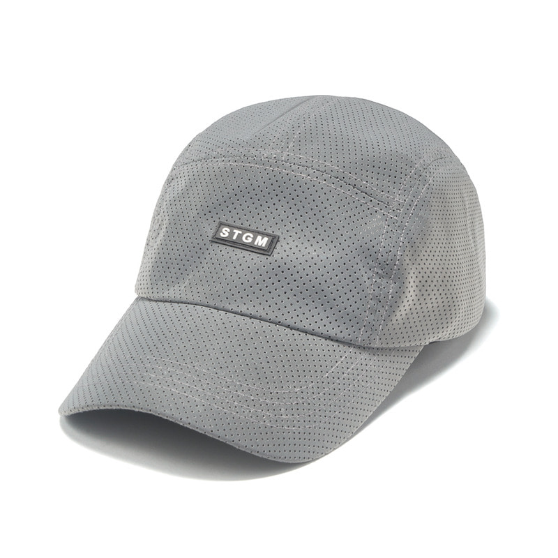 REFLECTIVE PUNCHED RUBBER CAMP CAP GREYSOLD OUT