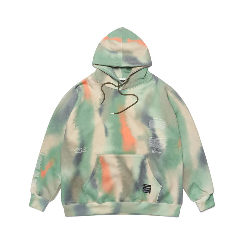 20 CAMOUFLAGE OVERSIZED HEAVY SWEAT HOODIE PATTERN
