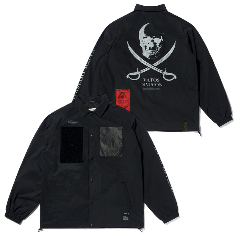 DDS OVERSIZED COACH JACKET BLACK