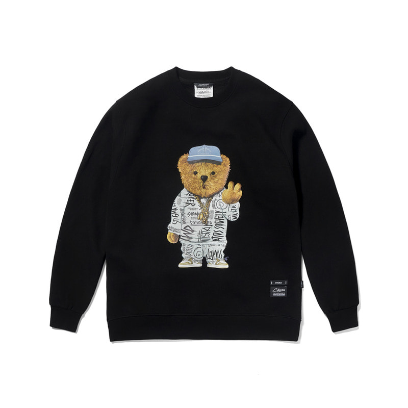 20 COMPTON BEAR HEAVY SWEAT CREWNECK BLACK