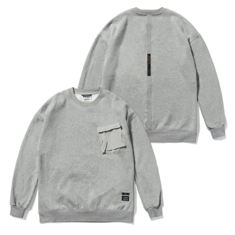 20 TECH OVERSIZED HEAVY SWEAT CREWNECK GREY