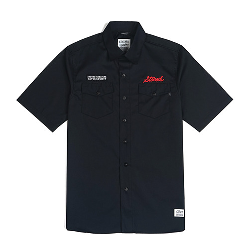 STONED WORK SHIRTS_BLACKSOLD OUT