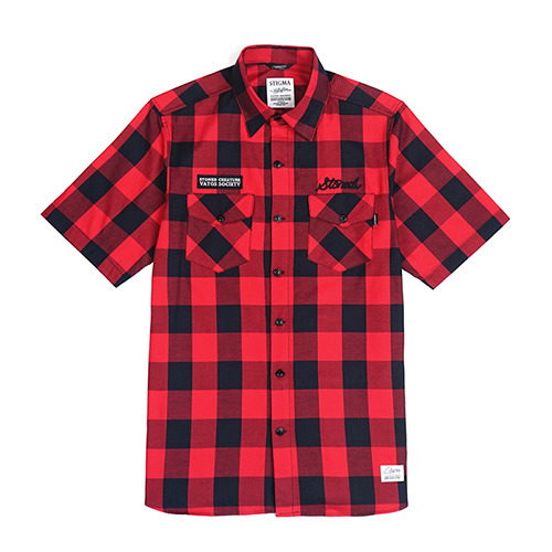 STONED WORK SHIRTS_REDSOLD OUT